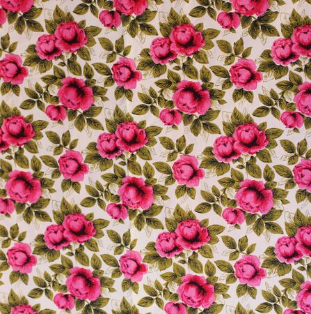 retro textile pattern with floral ornament photo