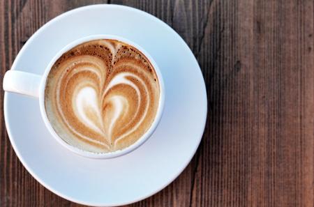 cappuccino foam: cup of coffee Stock Photo