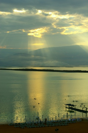 sunrise at dead sea Stock Photo - 12441434