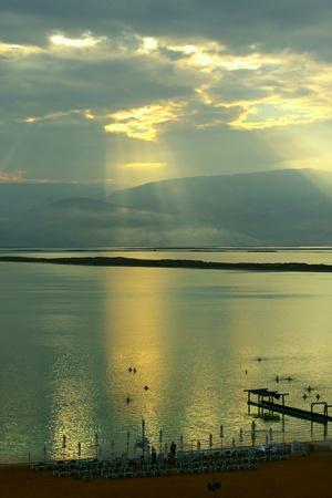 sunrise at dead sea Stock Photo - 12441434