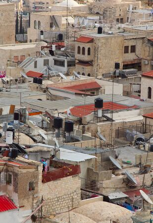 roofs of the old city of Jerusalem Stock Photo - 12448226