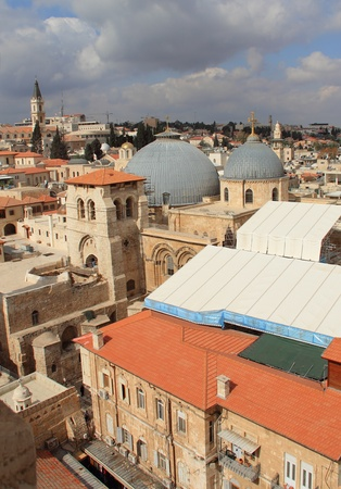 Church of the Holy Sepulcher (Church of the Resurrection), Christian Quarter, Old City of Jerusalem, Israel.  photo