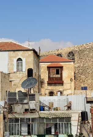 Background from the roofs of Old city of Jerusalem photo
