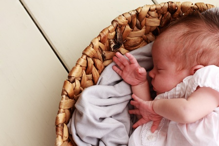 newborn baby: cute baby sleeping Stock Photo