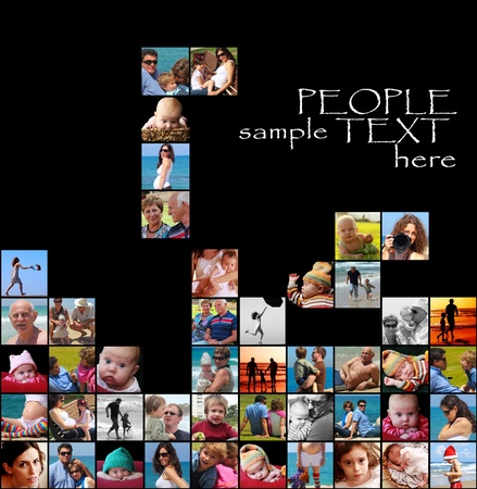 happy people collage-tetris photo