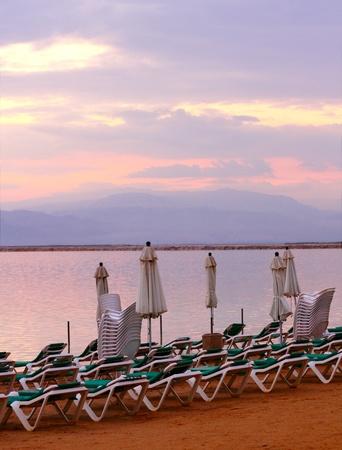 sunrise at Dead Sea photo