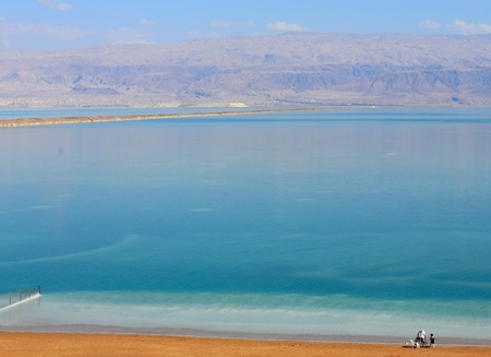 Dead Sea. Each year, the Dead Sea drying up. photo