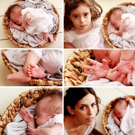 newborn baby collage photo