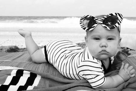 fashion baby on seaside photo