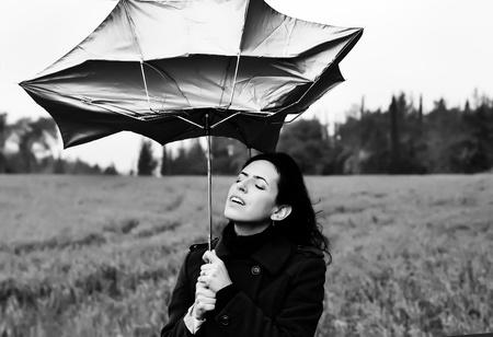girl in the rain Stock Photo - 12672322