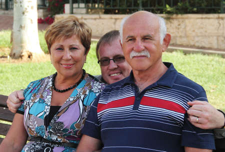 Lovely senior couple in the park Stock Photo - 12694074