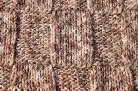 Colors knitted wool close up