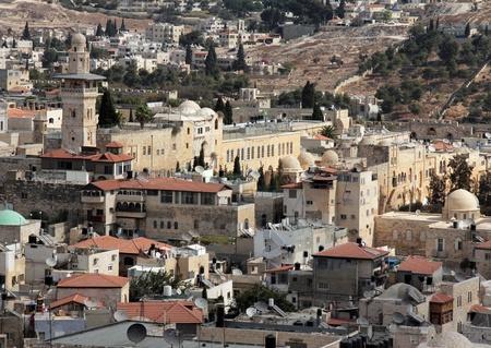 sepulcher: Old city of Jerusalem  West Bank  Muslim Quarter Stock Photo