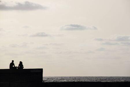 friedrichshafen: silhouette of couple enjoying sunset