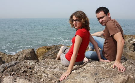 Young couple at the sea Stock Photo - 12785432