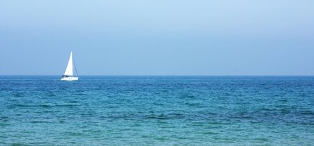 Sailing catamaran on the sea Stock Photo - 12784430
