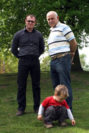 Grandfather, dad and son Stock Photo - 12784595