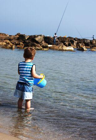 child on the sea    photo