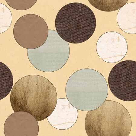 vintage textured pattern  In each circle a single texture Stock Photo - 12973477