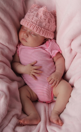 Beautiful month-old girl photo