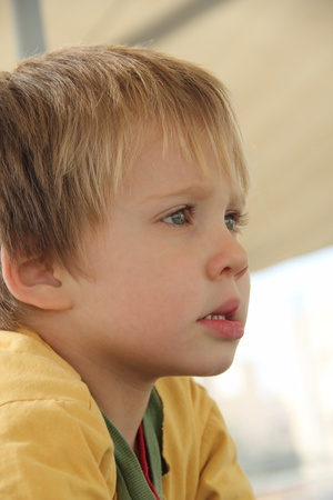 4-year-old boy playing on the playground Portrait