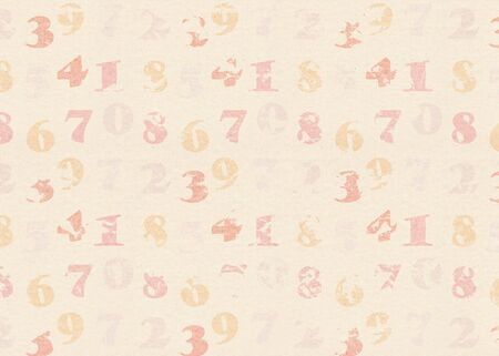abstract vintage background with numbers photo