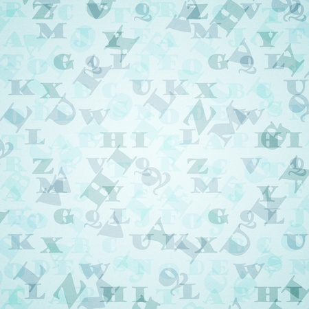 abstract vintage background with letters photo