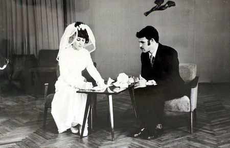 wedding in the 70s in the USSR  Vintage photo  photo