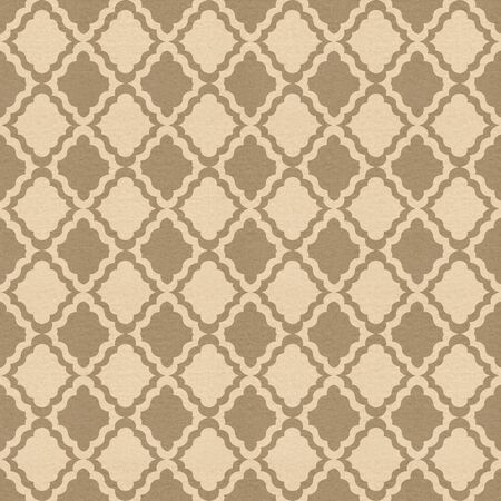 oldened: textured paper with vintage pattern Stock Photo
