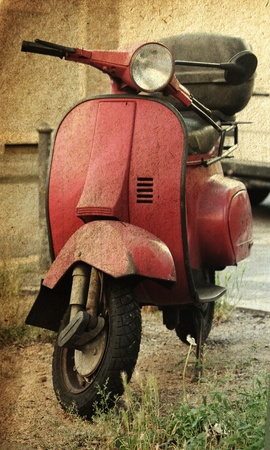 Vintage scooter photo