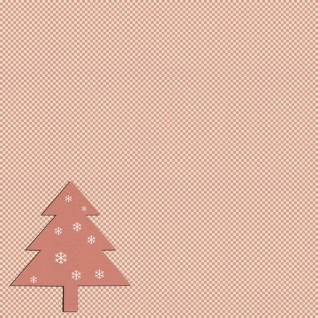 christmas pattern on textured paper photo