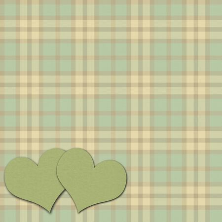 Vintage heart background photo