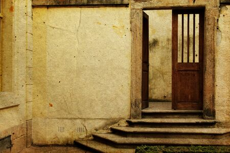 Vintage open door  image in old image style Stock Photo - 15600186