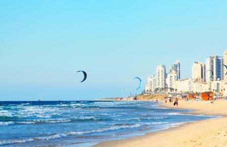 Linia brzegowa w Izraelu Zdjęcie Seryjne