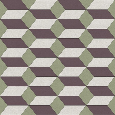 Seamless geometric pattern on textured paper photo