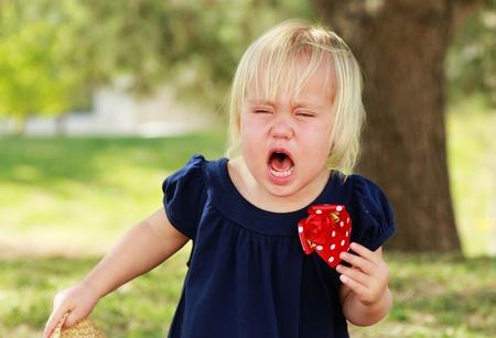 crying little girl photo