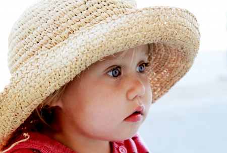 portrait of cute girl in a hat Stock Photo - 19347809