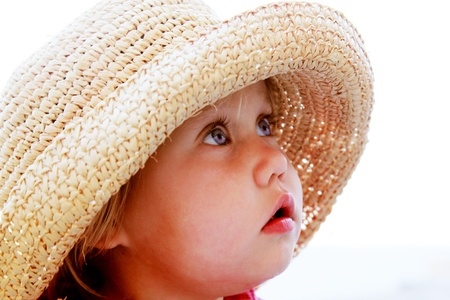 portrait of cute girl in a hat Stock Photo - 19347804