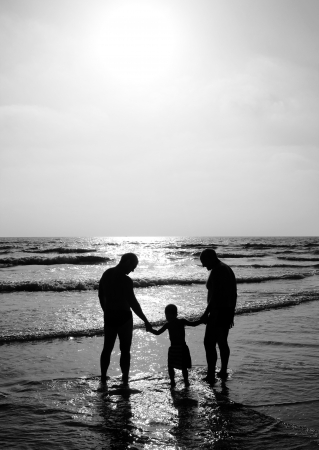 homosexual: feliz al aire libre de la familia