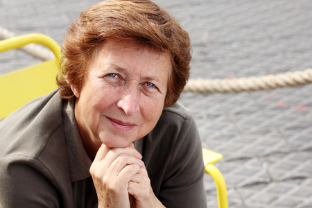 Senior woman portrait outdoor photo
