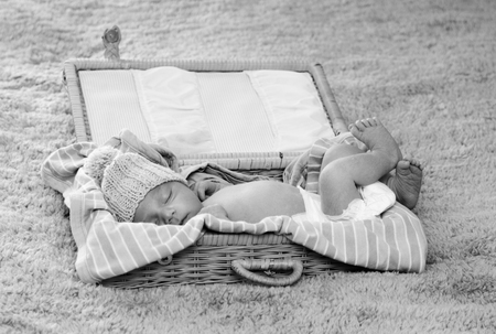 sleeping newborn baby  photo