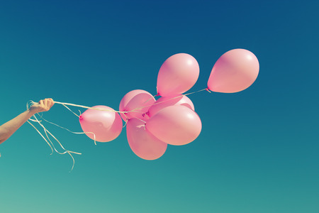 pink balloons Banque d'images
