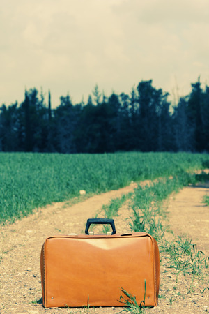 vintage case in the field photo