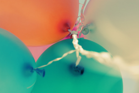 close up of colorful baloons photo