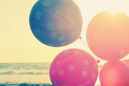 globos de cumpleaños: Close up de globos Foto de archivo