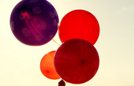 close up of balloons photo