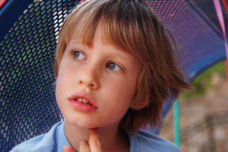 6 years: Portrait of cute 6 years old boy Stock Photo