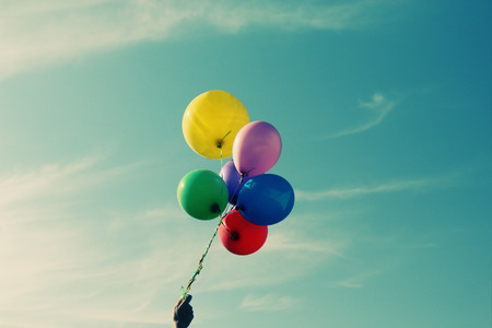 close up of colorful balloons photo