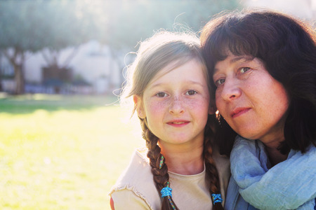 8 year old girl: Portrait of mother and daughter