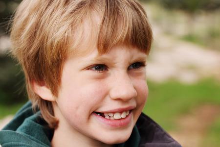 freckle: autistic child smiling